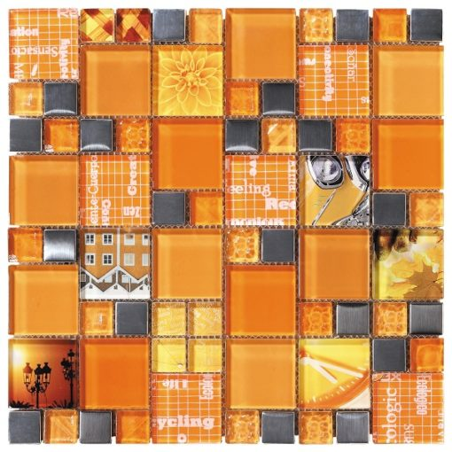 mosaique carnaval orange