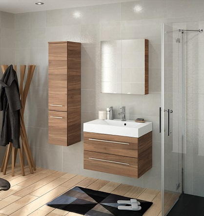 Salle de bain serie starlight noyer