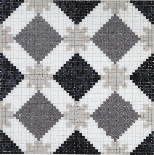 mosaique alhambra gris