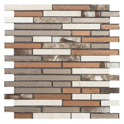 mosaique brick marron