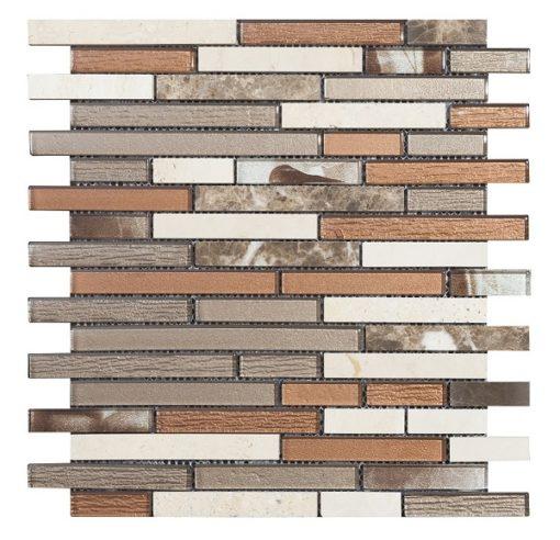 mosaique brick marron