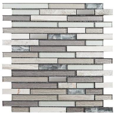 mosaique brick gris