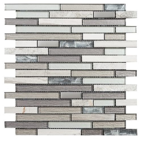 mosaique brick gris