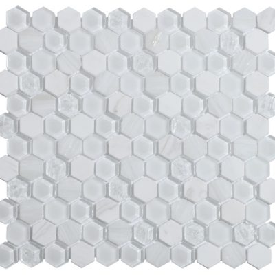 mosaique living blanc