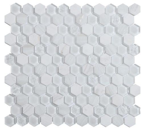 mosaique living blanc