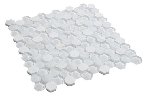 mosaique living blanc vu de coté