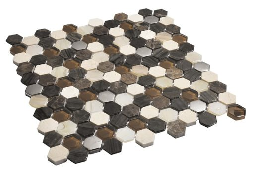 mosaique living marron