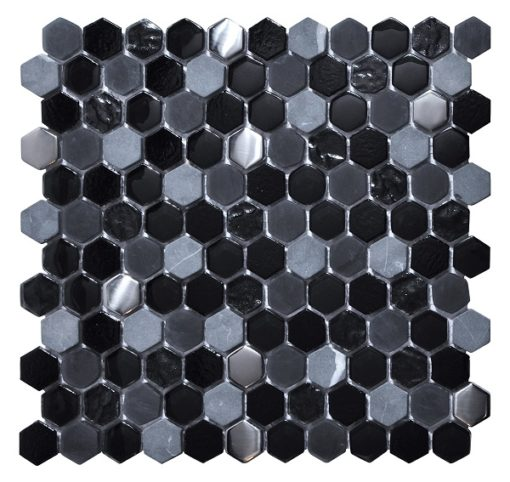 mosaique living noir
