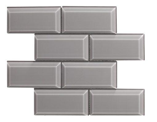 mosaique metro bevel gris