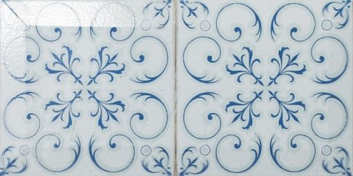 mosaique metro bevel twin bleu