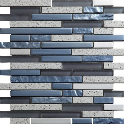 mosaique quartz gris