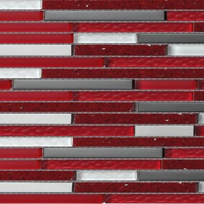 mosaique quartz rouge