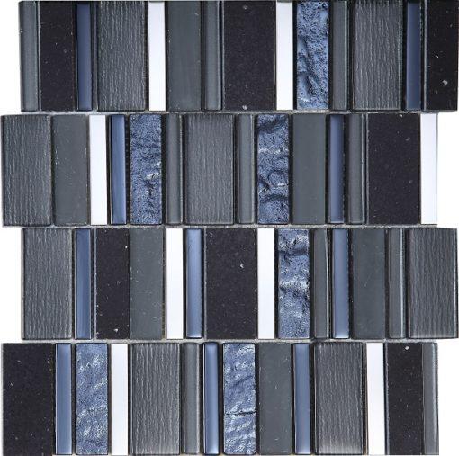 mosaique stripes carbone
