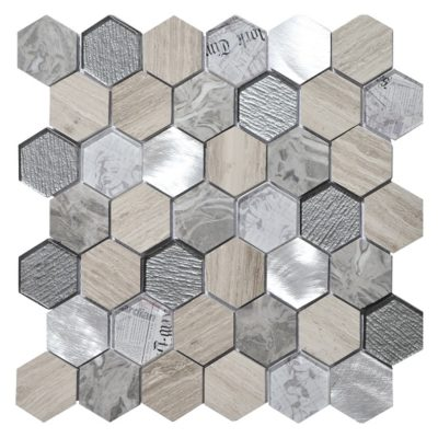 mosaique tour gris