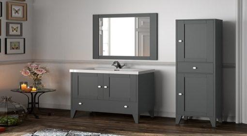 Salle de bain serie boheme 700 gris mate