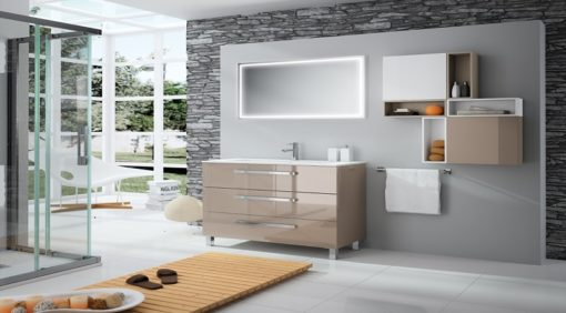 Salle de bain serie fusion chrome