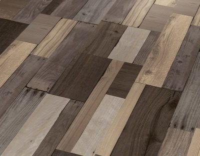 parquet Wooden patchwork altéré