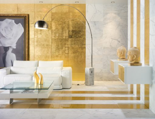 faïence pan de oro format 30x60 cm matière verre