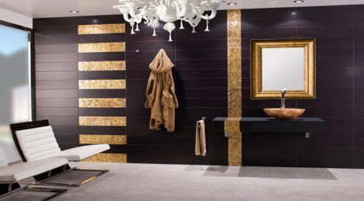 lavabo redondo dorado