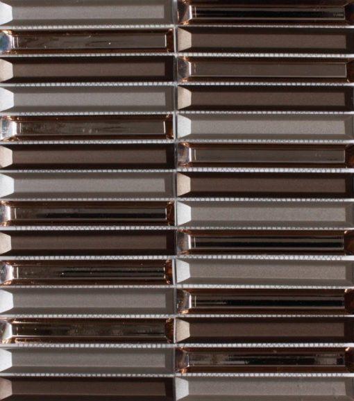 mosaïque dinasty matériaux verre couleur marron.