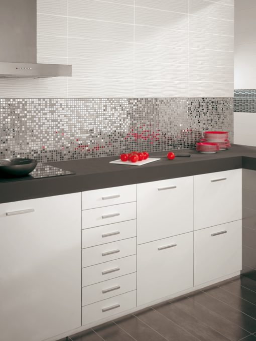mosaïque metalic siver