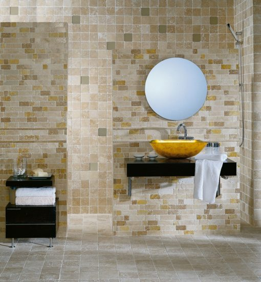 mosaïque mosaico travertino brick