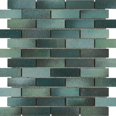 mosaïque poème matériau pierre couleur vert.