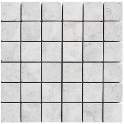 mosaïque marbre blanc royal 48x48mm