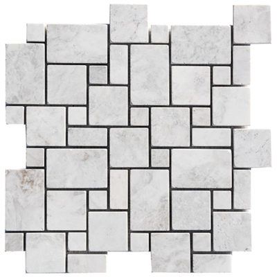 Mosaïque Royal White Marble Small Pattern