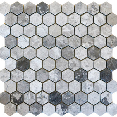 Mosaïque Silver Royal Hexagon Mosaics