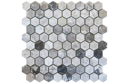 Mosaïque Silver Royal Hexagon Mosaics