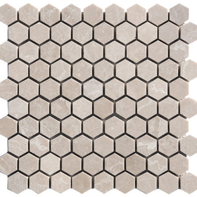 Mosaïque Tapisa Marble 3cm Hexagon