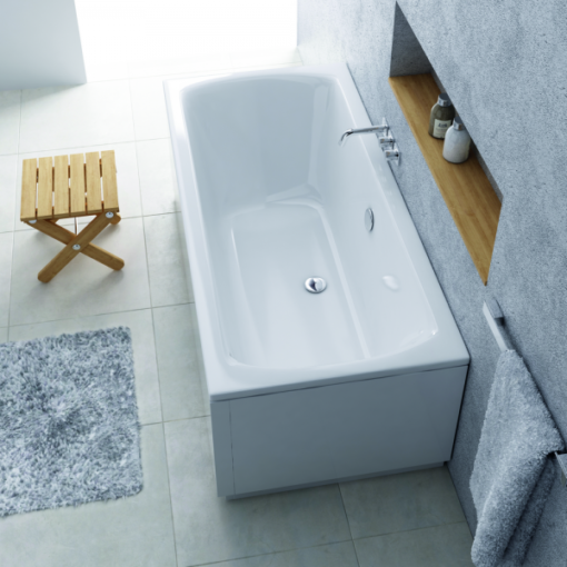 baignoire à encastrer acrylique 180x80cm lina
