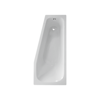 baignoire acrylique asymétrique droite 160x75cm espace