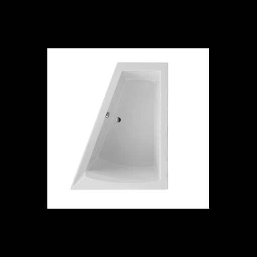 baignoire asymétrique, version droite 175x135x70cm confort