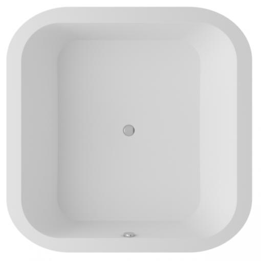 baignoire carrée en Solid Surface scene blanc alfa form