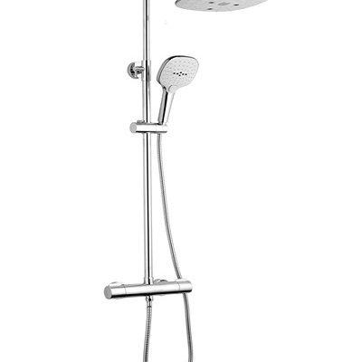 barre de douche caresse carré blanc