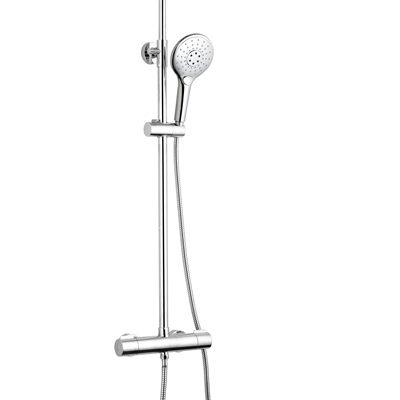 barre de douche caresse rond chromé