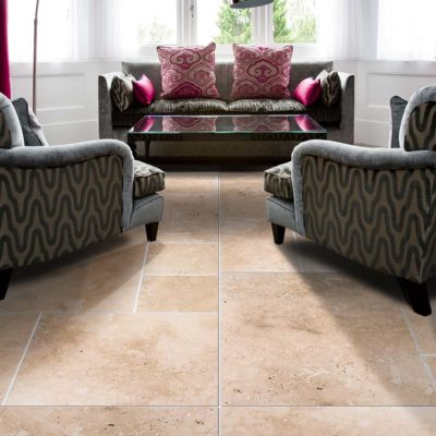 carrelage classic travertine en marbre