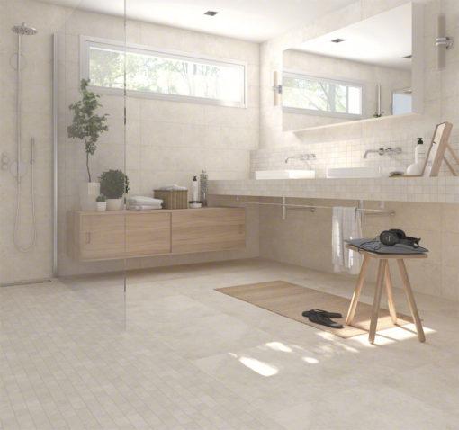 carrelage intérieur delta crema aspect ciment