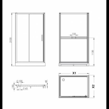 dax cabine de douche d angle en verre blanc