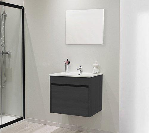 meuble de salle de bain maple noir
