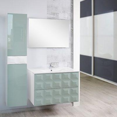 meuble de salle de bain pyramide