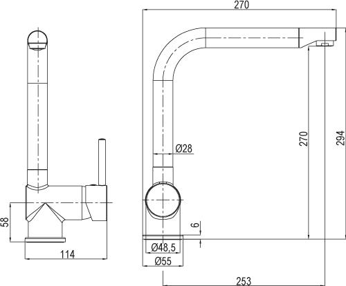 mitigeur d'évier Loft C