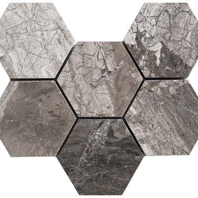 mosaïque atlantic grey 10 cm hexagone