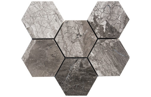 mosaïque atlantic grey 10 cm hexagone
