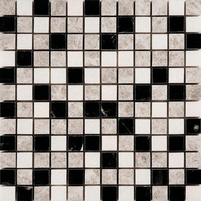 mosaïque black pearl&silver ocean white crown