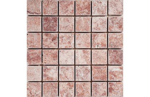 mosaïque pink travertine