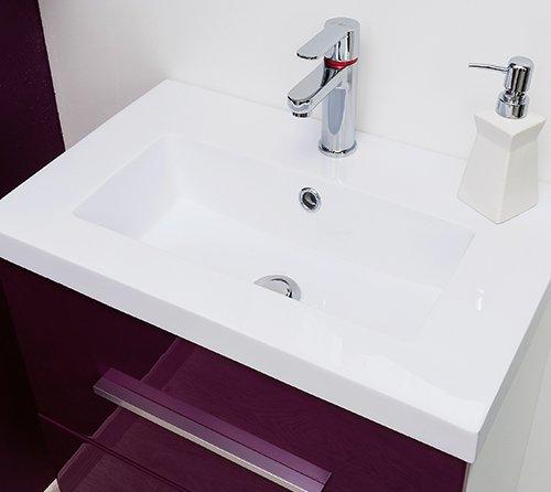 plan résine meuble de salle de bain modulo