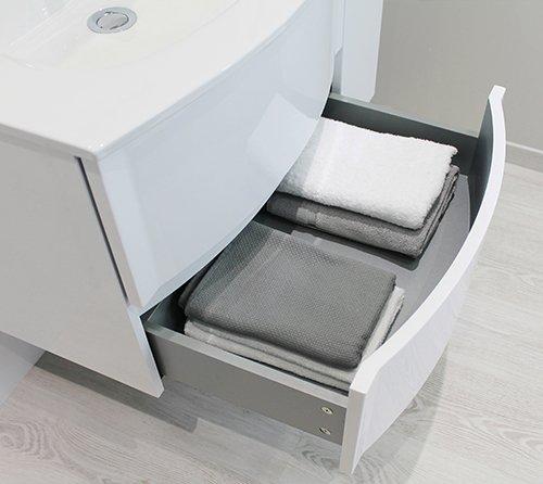 tiroirs meuble de salle de bain rony